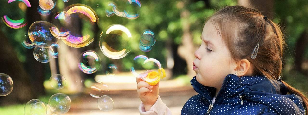 little girl with Pathological Myopia