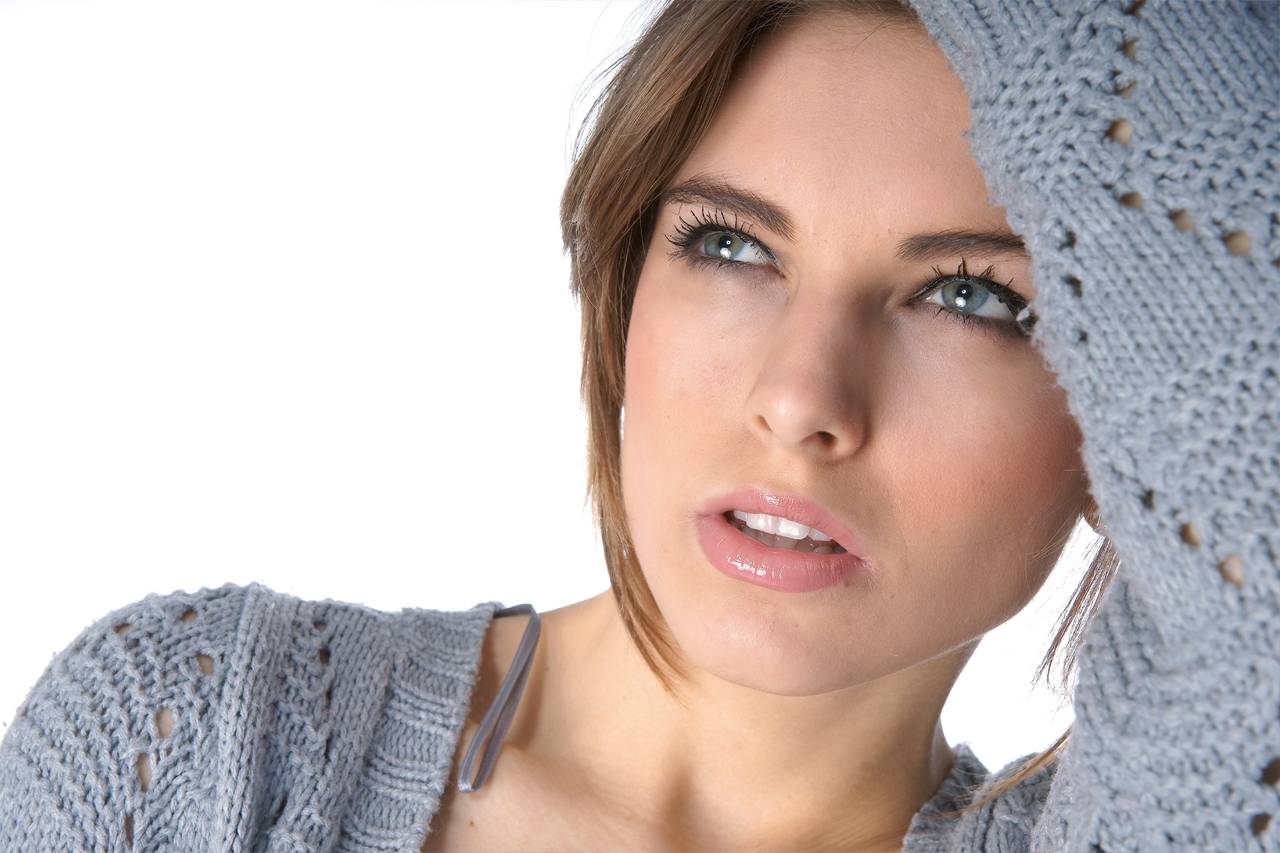 Woman Tired Blue Eyes