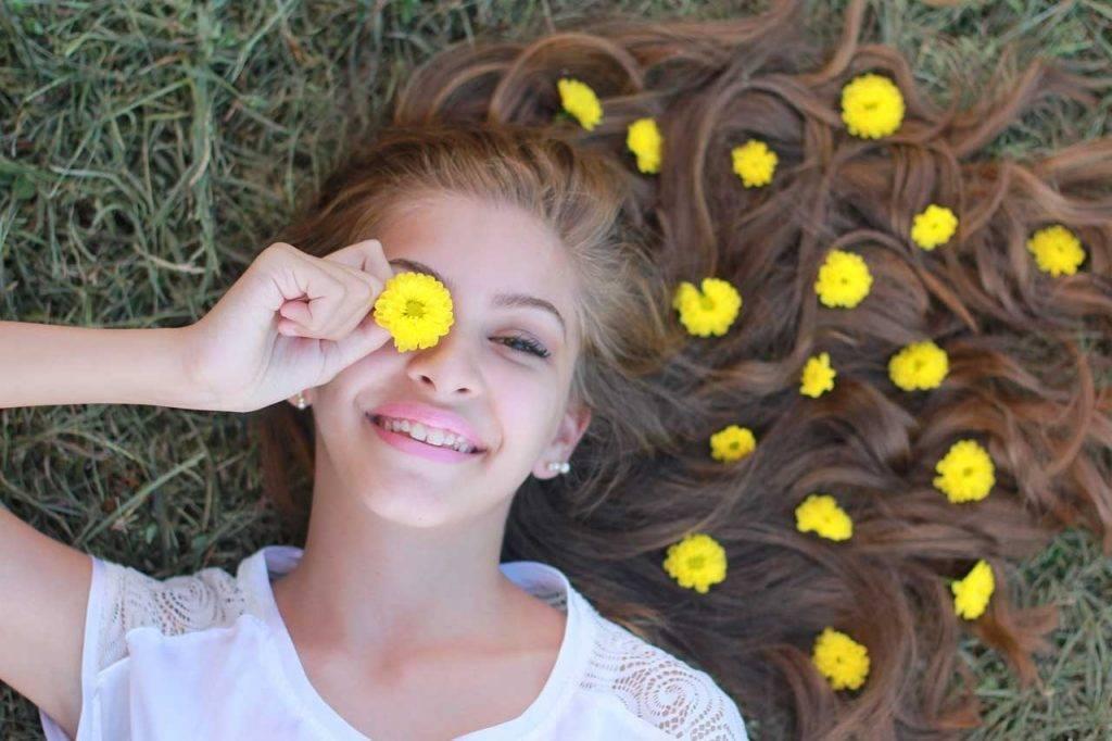 Girl smiling under myopia management
