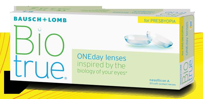 Eye exam, bausch+lomb biotrue oneday for presbyopia in Burnsville, MN