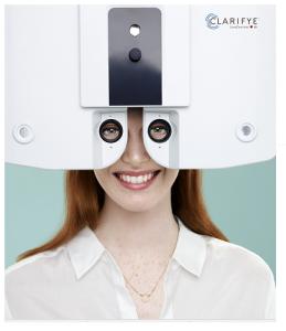 Woman enjoying clarifye eye exam, Fairfax, Virginia