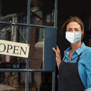 Eye Care Professional Wearing Mask During Corona Virus Crisis