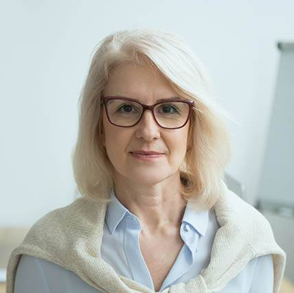 Middle-Aged Woman Wearing Eyeglasses