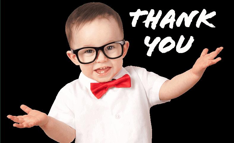 Little boy saying thank you