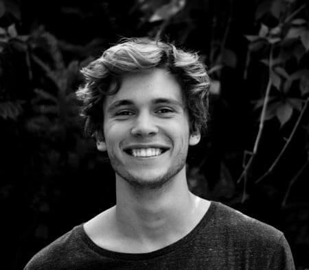 happy man smiling