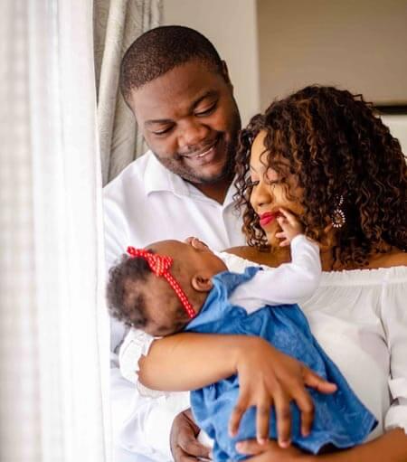 happy american family