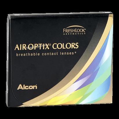 Eye doctor, box of Air Optix Colors contact lenses in Billings, MT