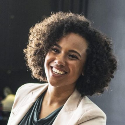 african american woman smiling