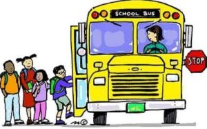 bus with kids