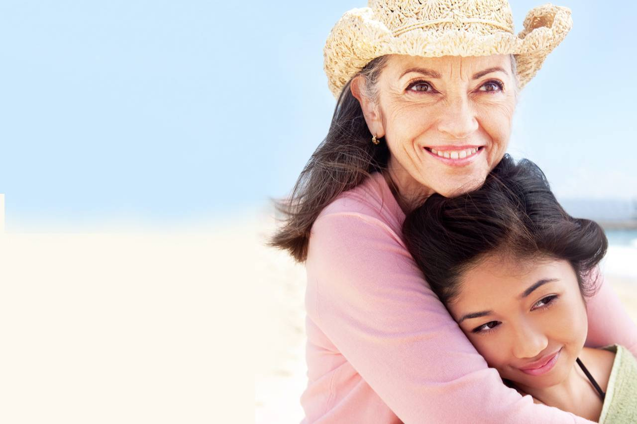 Grandmother and Child Hugging 1280x853