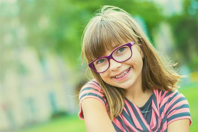 Brampton child with myopia and glasses
