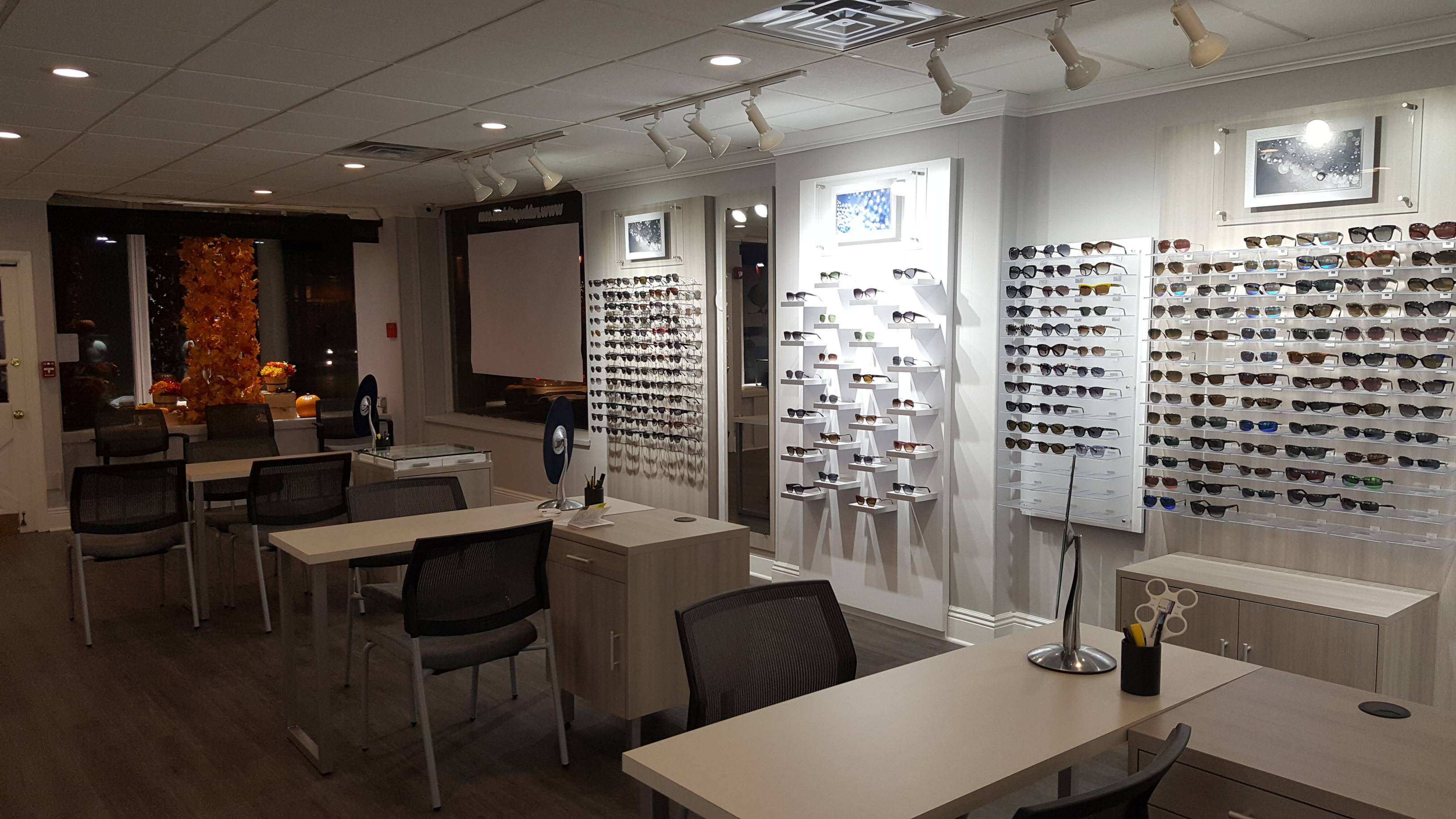 Optical section of eye care practice
