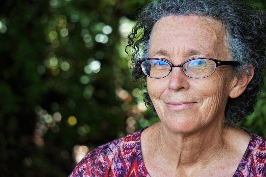 grandma with bioptics