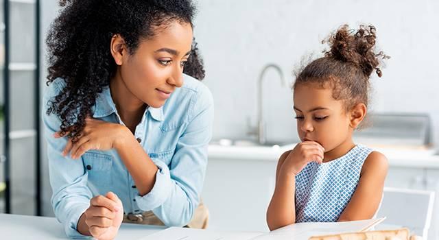 Mom Daughter Child Eye Health