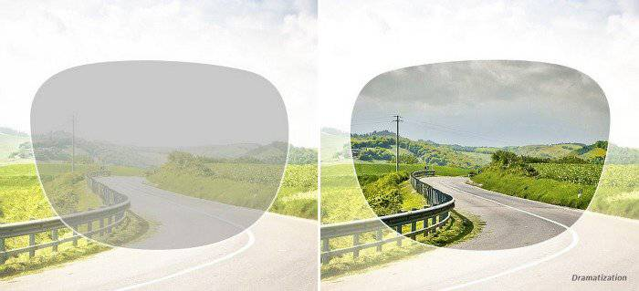 Illustration of Transitions lenses