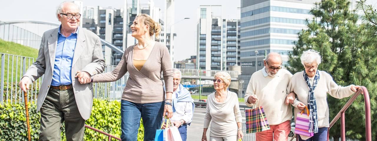 Group of Seniors Walking