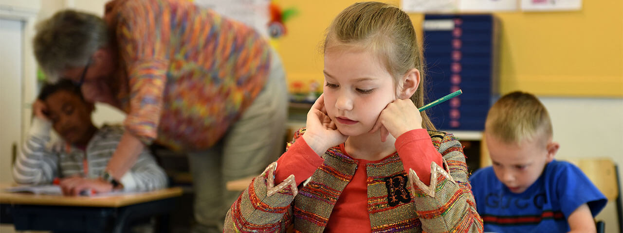 child at the school