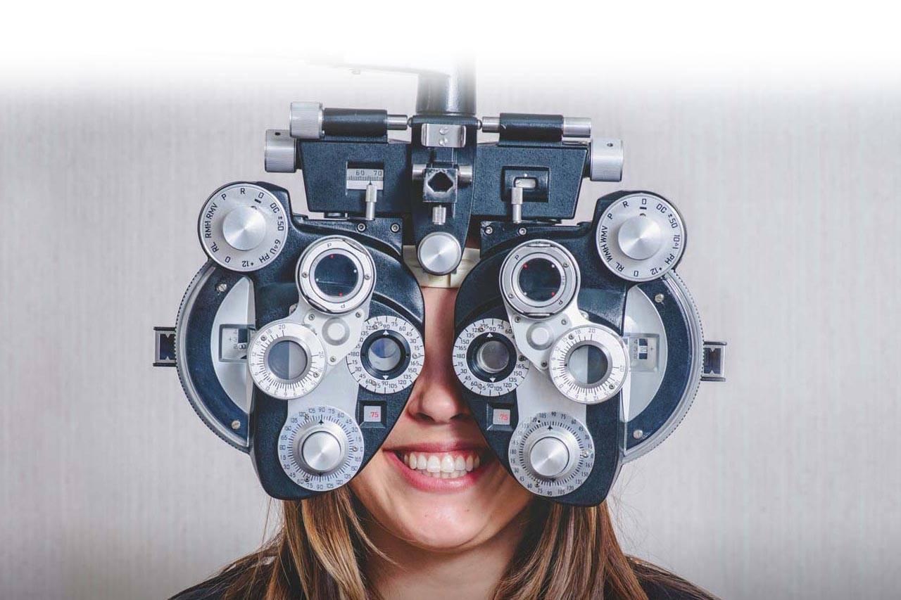 Woman enjoying eye exam