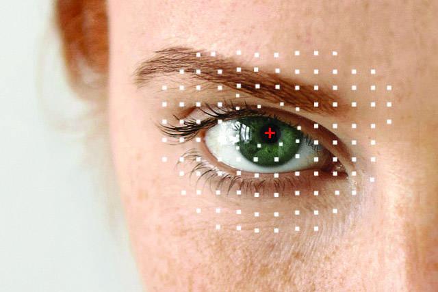 optometrist, Woman's eye, ad for Eye Care Emergencies in Cypress, TX