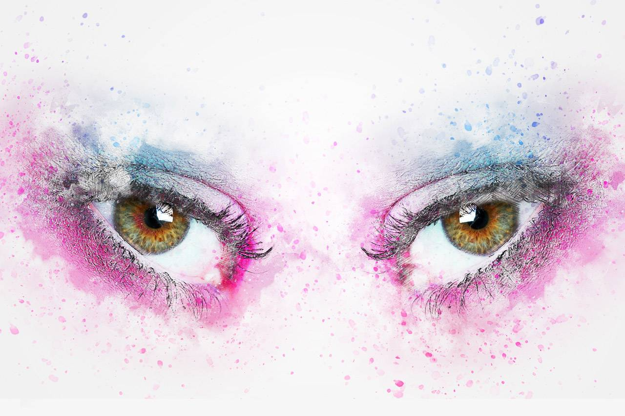 colorful eyes staring at you