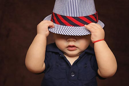 baby boy hat covered