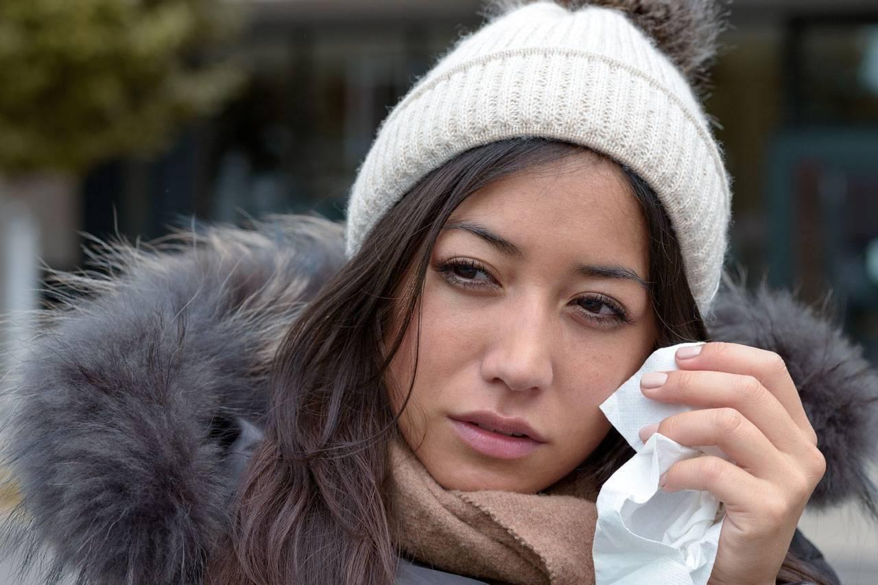 Woman having eye allergies in Milpitas, CA