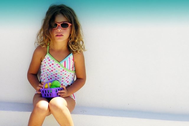 Child Female Wearing Sunglasses in Fort Worth, Texas