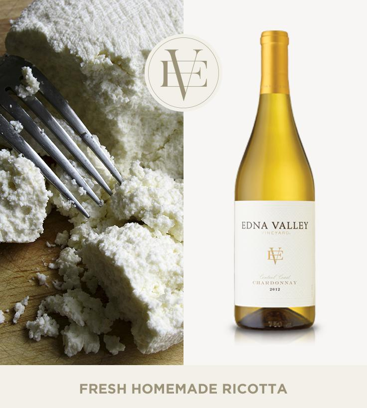 Fresh Homemade Ricotta | Edna Valley Vineyard