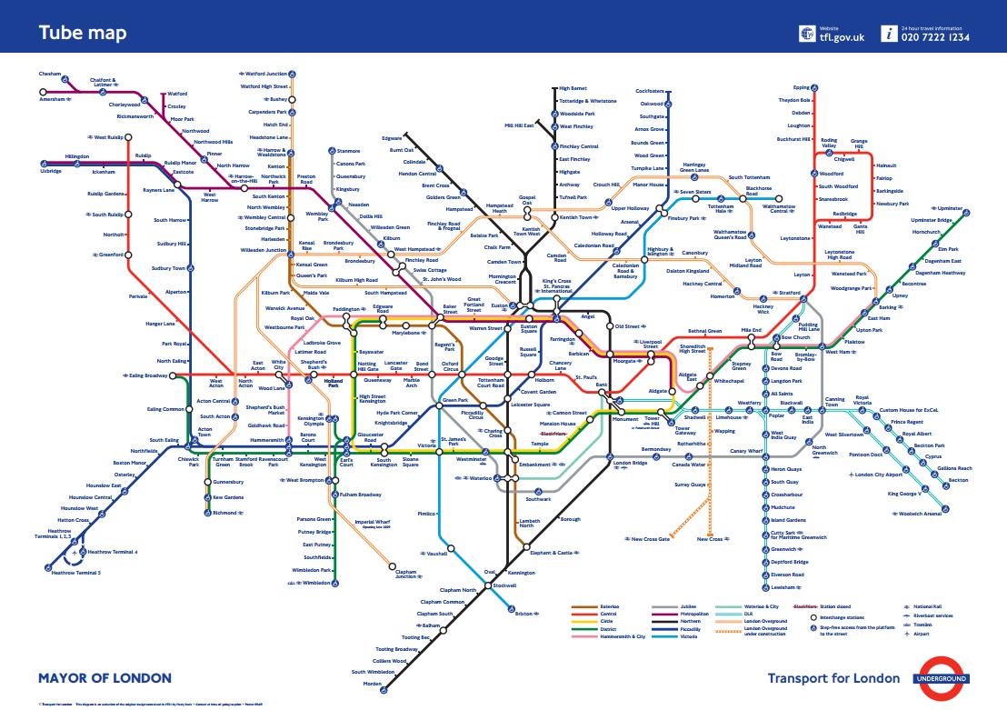 Edward Tufte forum: London Underground maps (+ worldwide subway maps)