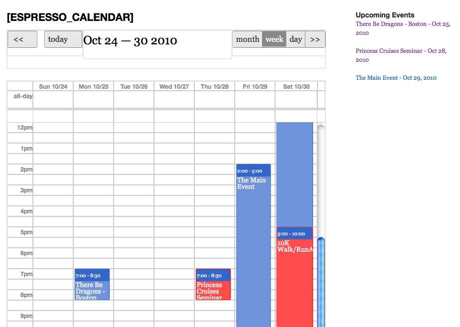 Calendar Week View