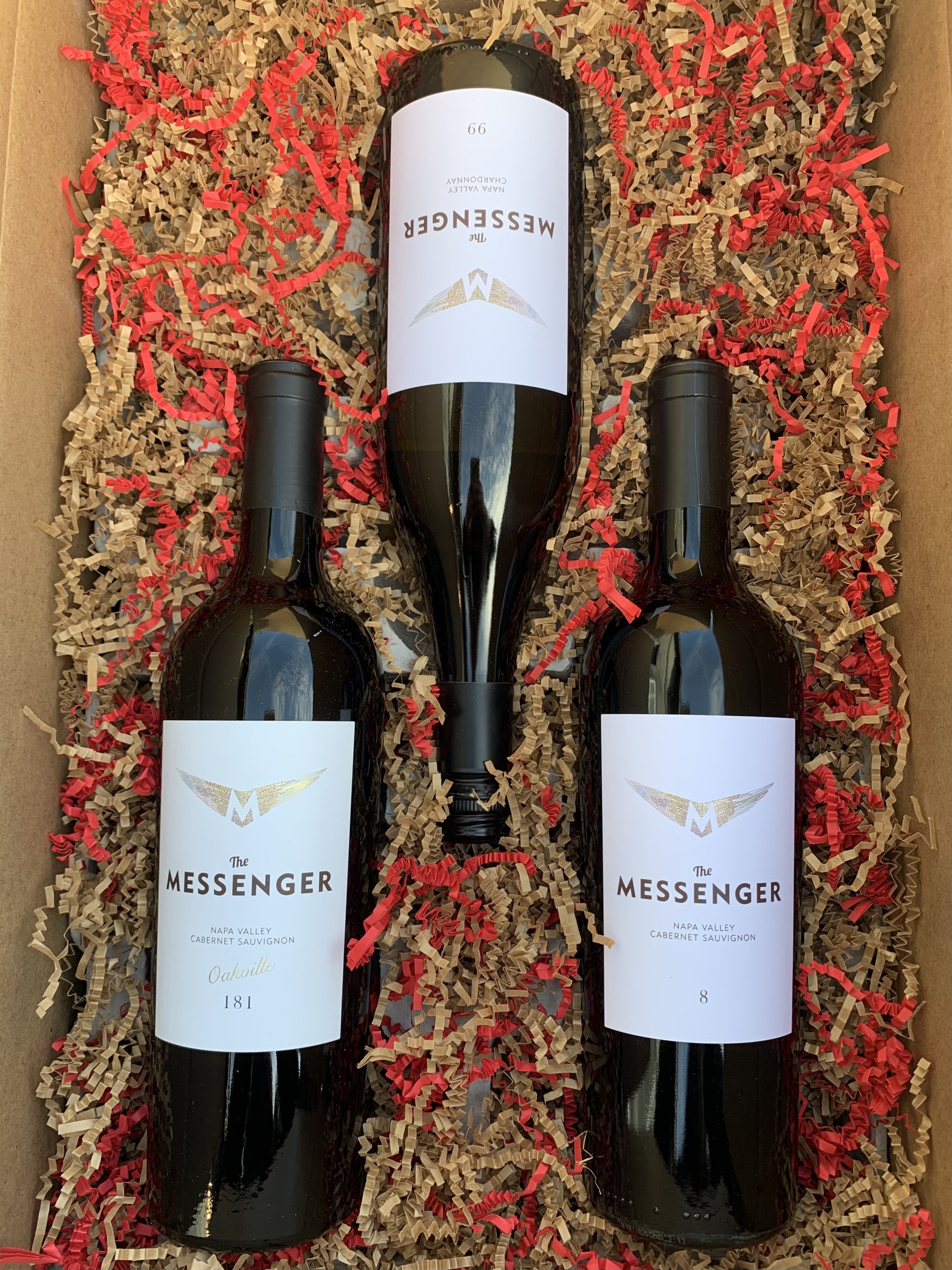 A Napa Valley gift - The Messenger Napa Valley Trio 3x750ml The Messenger Napa Valley Wines - West Coast Only - Art+Farm Wine
