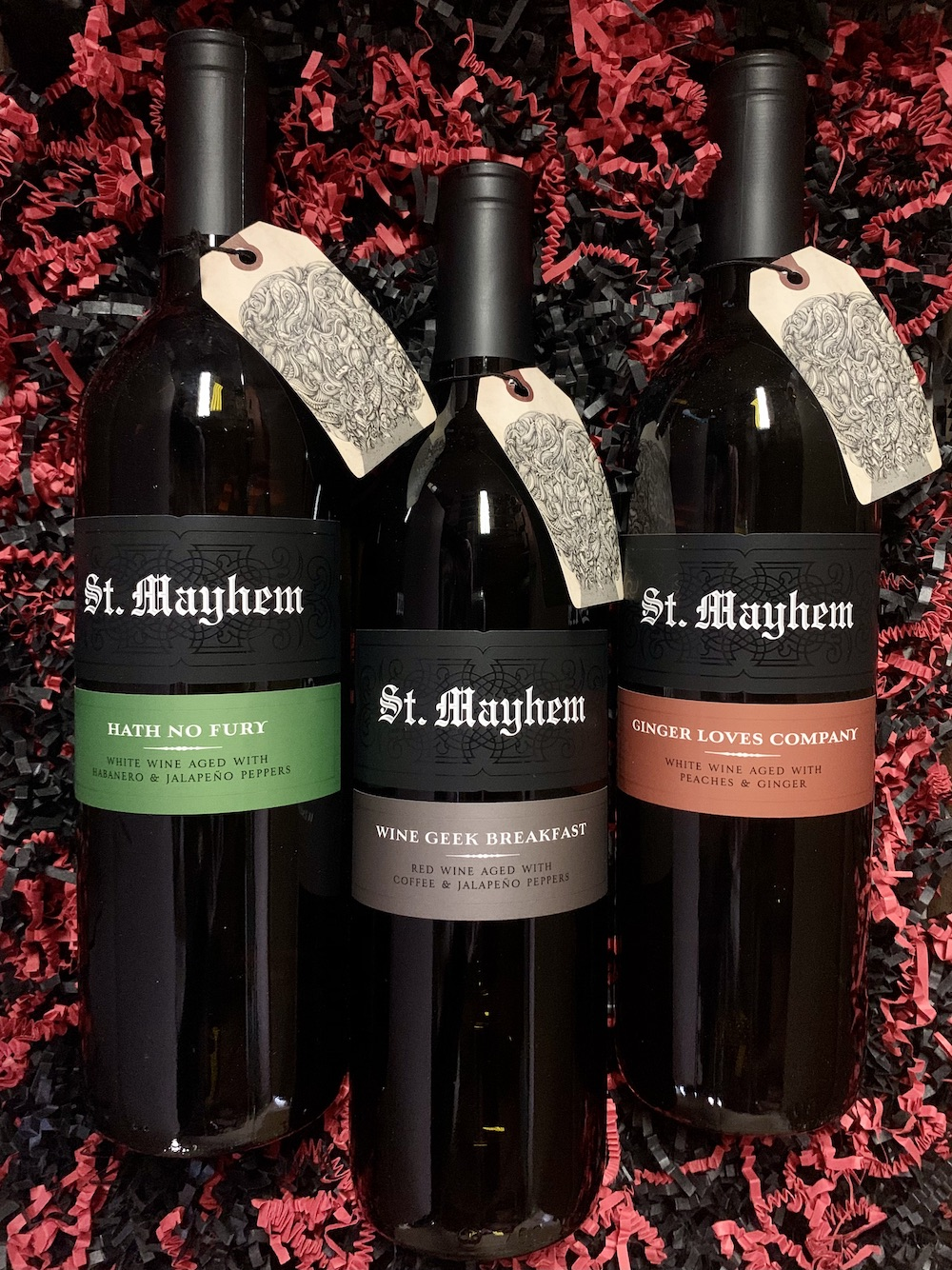 St. Mayhem 3 bottle Pack - Hath No Fury, Wine Geek Breakfast & Ginger Love Company 3x750ml - West Coast Only - Art+Farm Wine