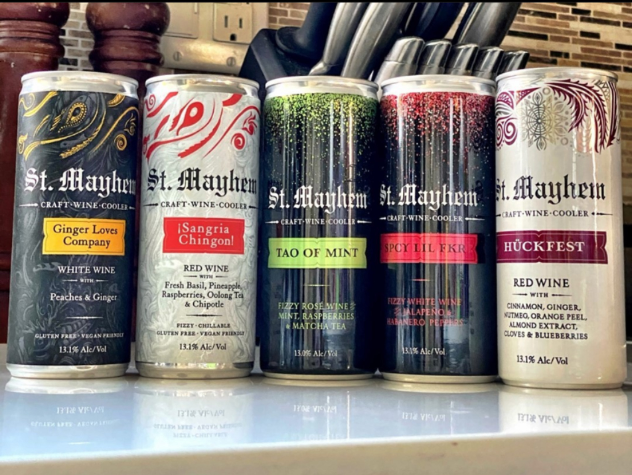 St. Mayhem Sample Pack 5 x 250ml Cans - Art+Farm Wine
