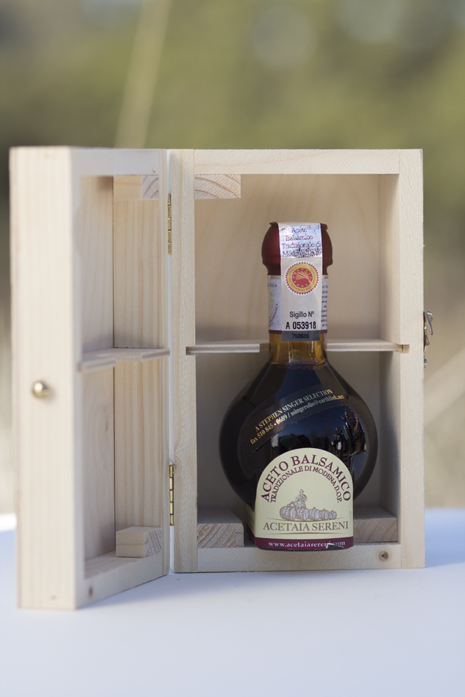 Acetaia Sereni Aceto Balsamico Traditionale di Modena, DOP, Affinato, 100 ml Consorzio bottling, aged over 12 years. - Beaune Imports