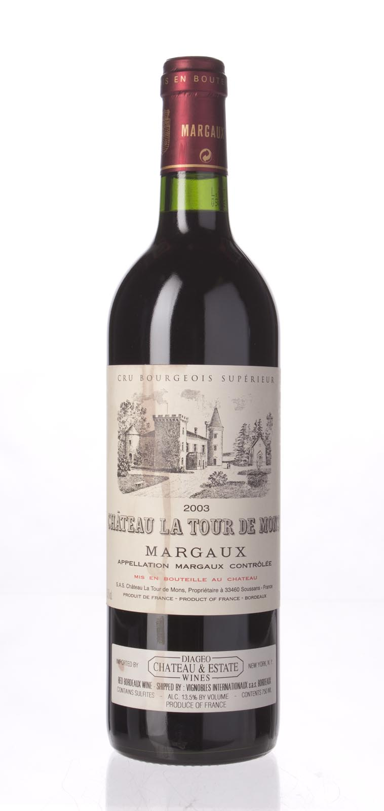 La Tour de Mons 2003, 750mL () from The BPW - Merchants of rare and fine wines.