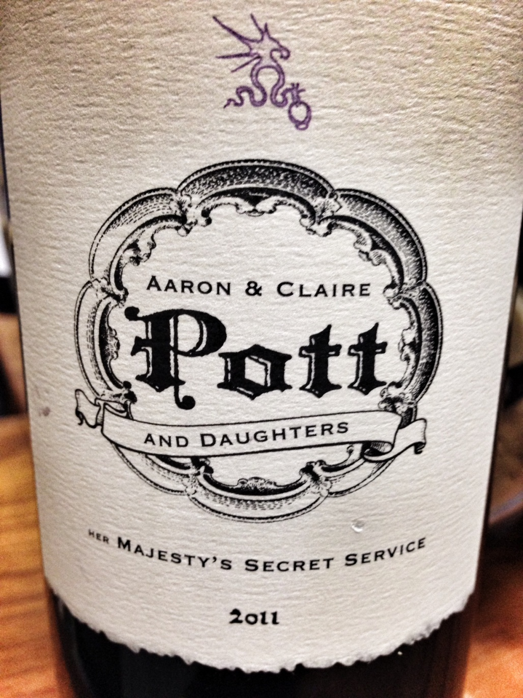 Pott Wines Cabernet Sauvignon Her Majesty`s Secret Service Stagecoach Vineyard 2011,  (ST90-93) from The BPW - Merchants of rare and fine wines.