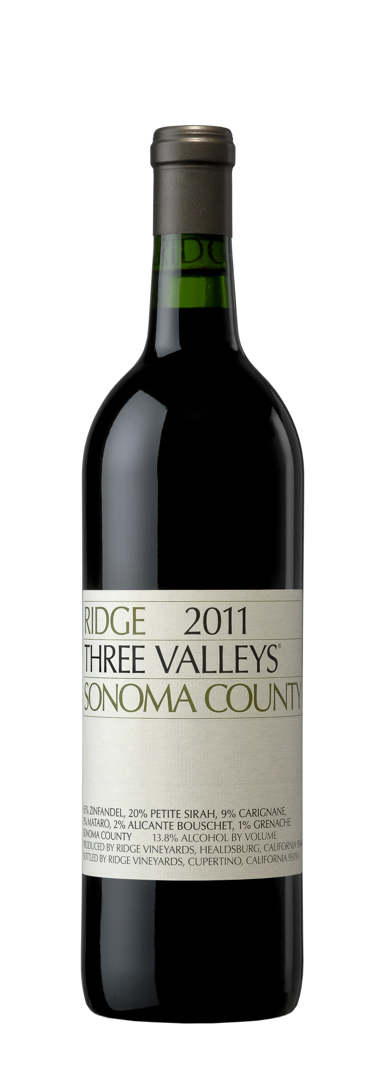 Ridge Proprietary Red Three Valleys 2011, 750ml () from The BPW - Merchants of rare and fine wines.
