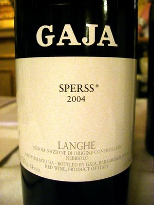 Gaja Sperss 2004, 750ml (WS99) from The BPW - Merchants of rare and fine wines.