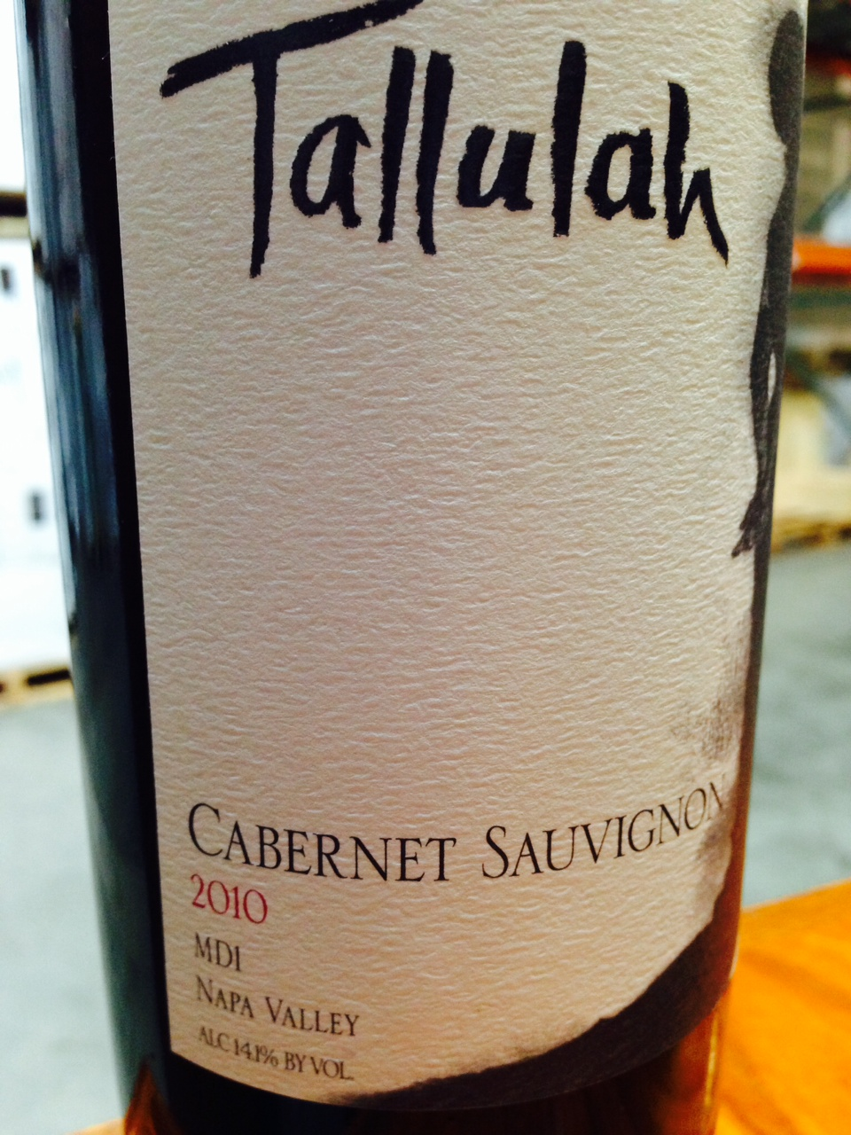 Tallulah Cabernet Sauvignon MD1 2010, 750ml () from The BPW - Merchants of rare and fine wines.