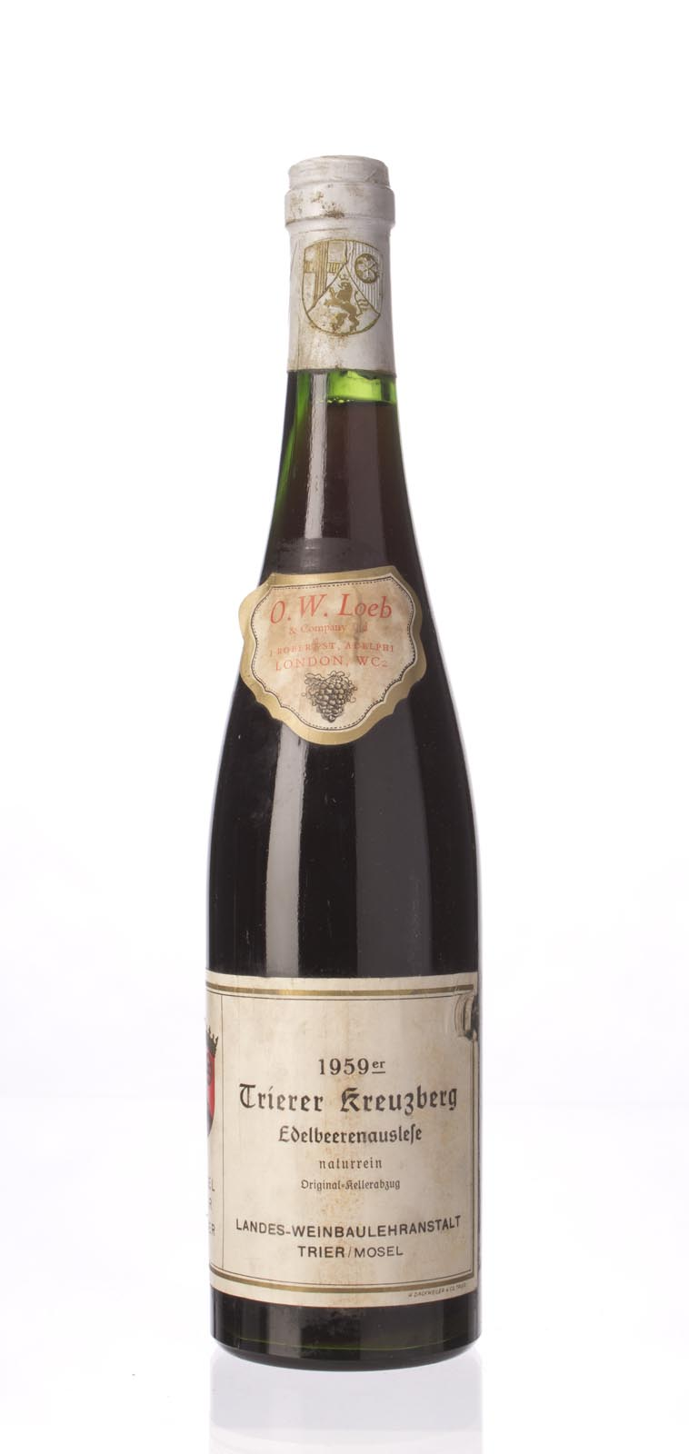 Landes Weinbaulehranstalt Trierer Kreuzberg Riesling Edelbeerenauslese 1959,  () from The BPW - Merchants of rare and fine wines.