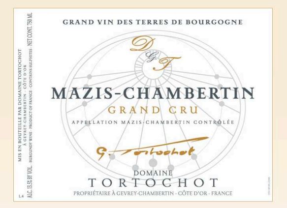 Domaine Gabriel Tortochot Mazis Chambertin Grand Cru 2012,  () from The BPW - Merchants of rare and fine wines.