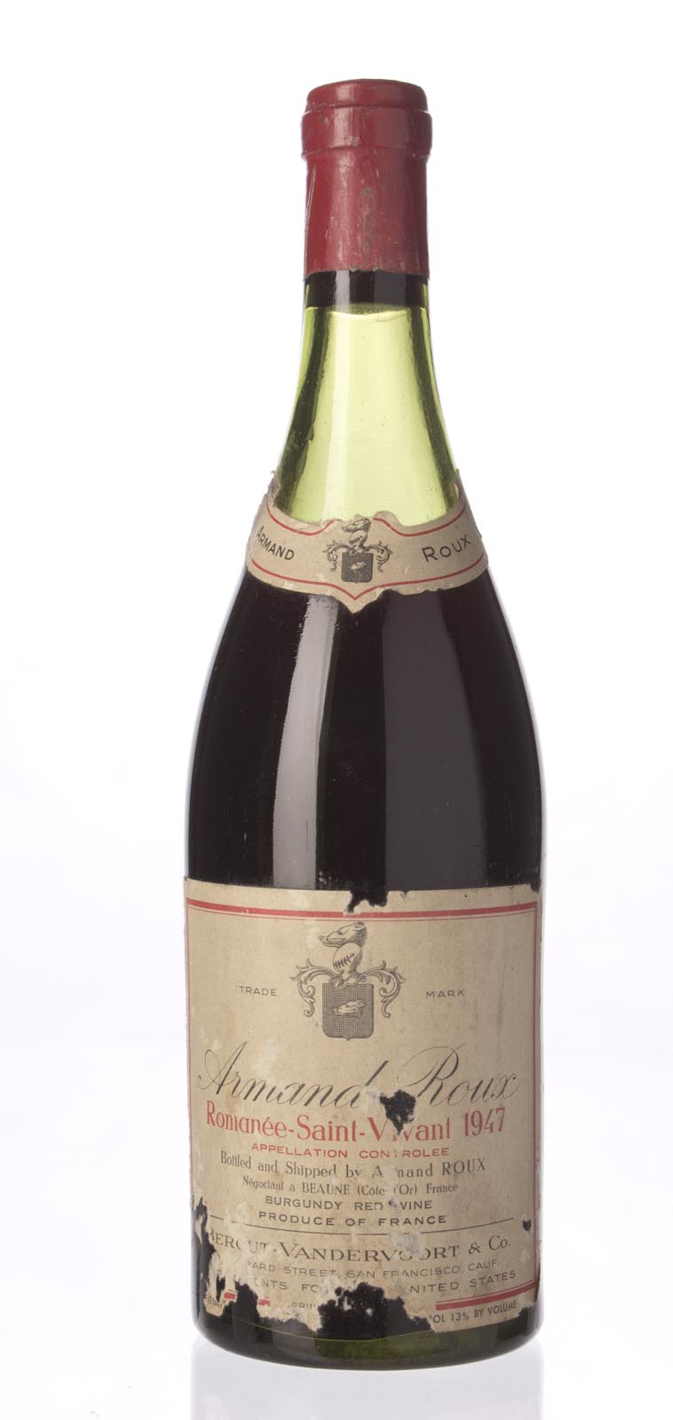 Armand Roux Romanee St. Vivant 1947, 750mL () from The BPW - Merchants of rare and fine wines.