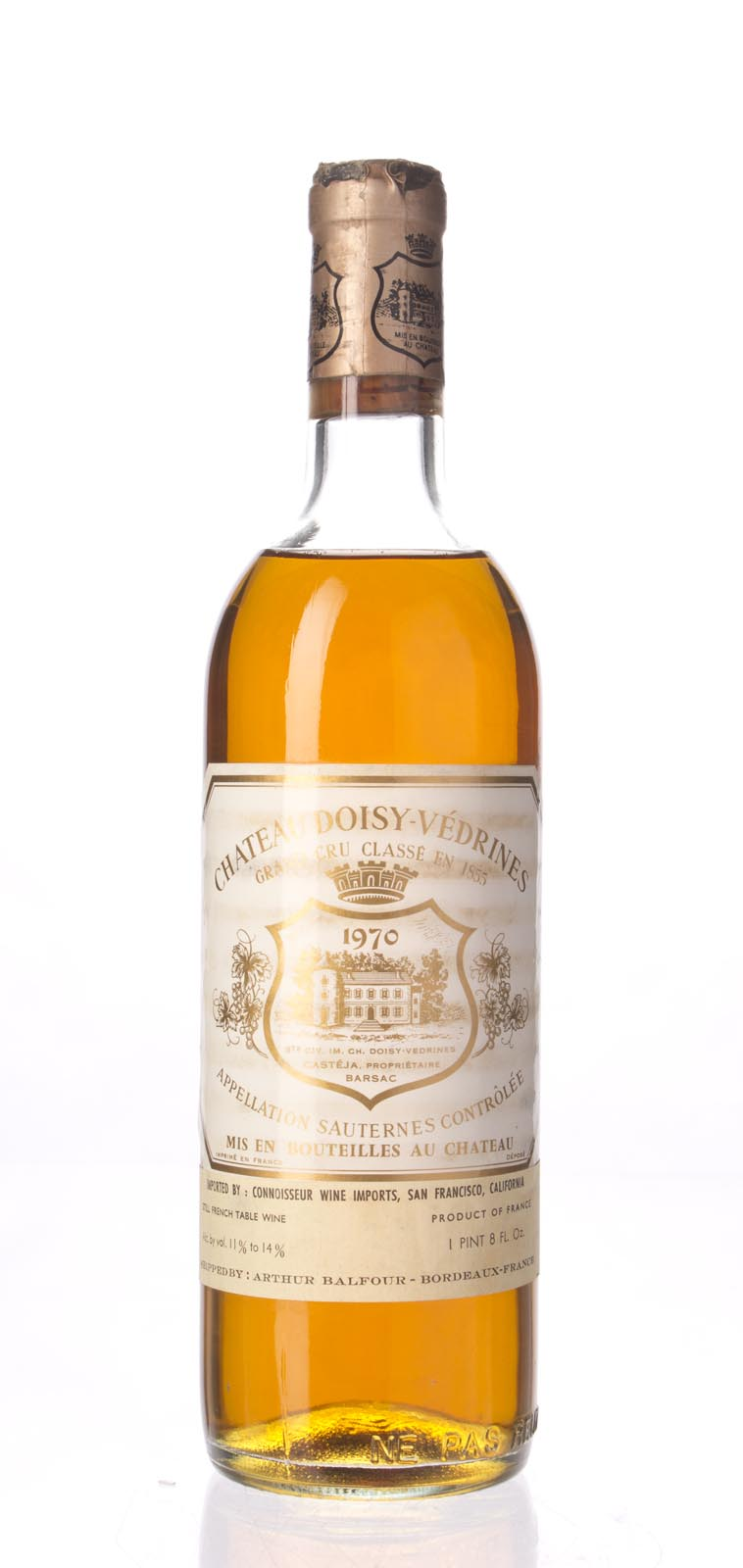 Doisy Vedrines 1970, 750ml () from The BPW - Merchants of rare and fine wines.