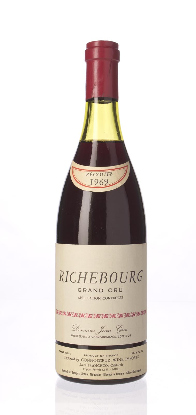 Domaine Jean Gros Richebourg 1969, 750mL (WA92) from The BPW - Merchants of rare and fine wines.