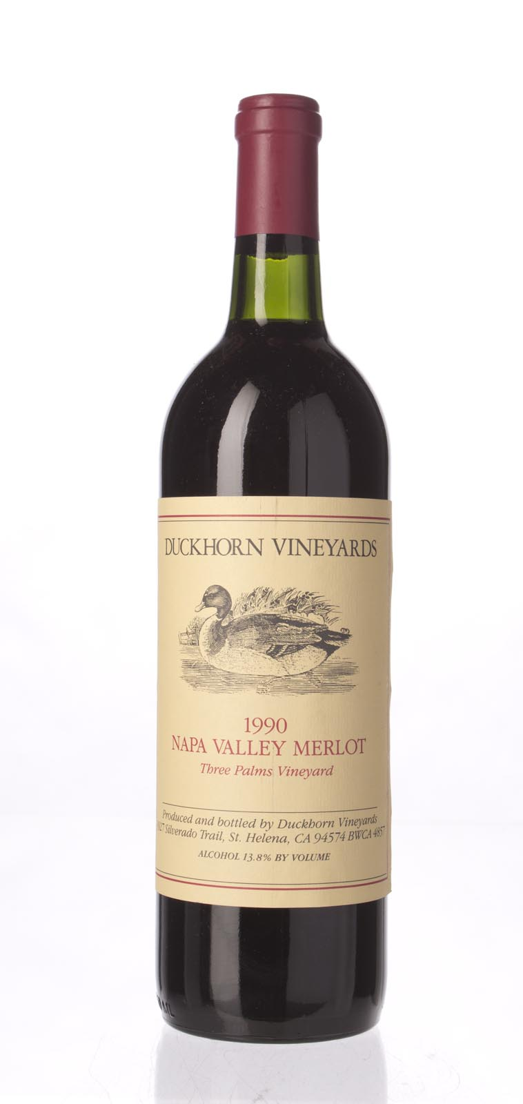 Duckhorn Merlot Three Palms Vineyard 1990, 750mL () from The BPW - Merchants of rare and fine wines.