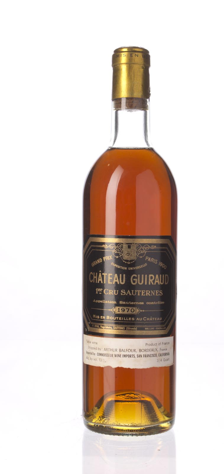 Guiraud 1970, 750mL () from The BPW - Merchants of rare and fine wines.