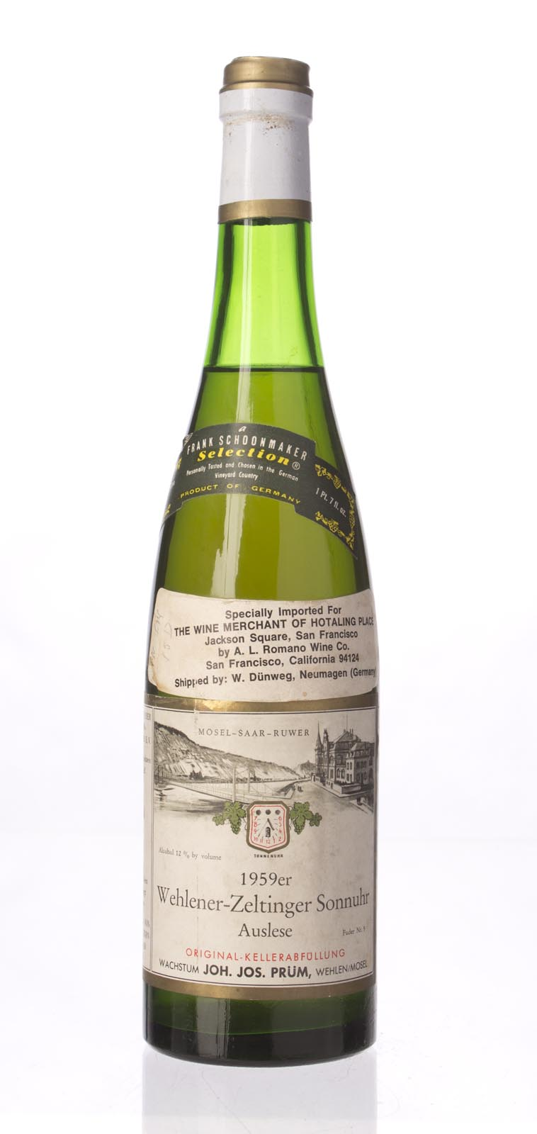 JJ Prum Zeltinger Sonnenuhr Riesling Auslese 1959, 750mL () from The BPW - Merchants of rare and fine wines.