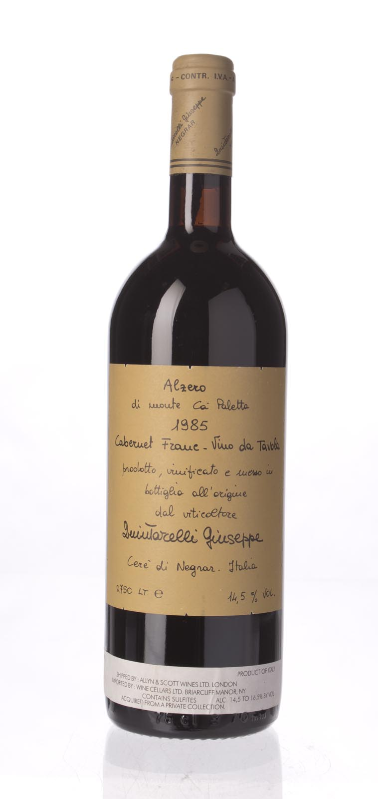 Quintarelli Alzero Cabernet Franc 1985, 750ml () from The BPW - Merchants of rare and fine wines.