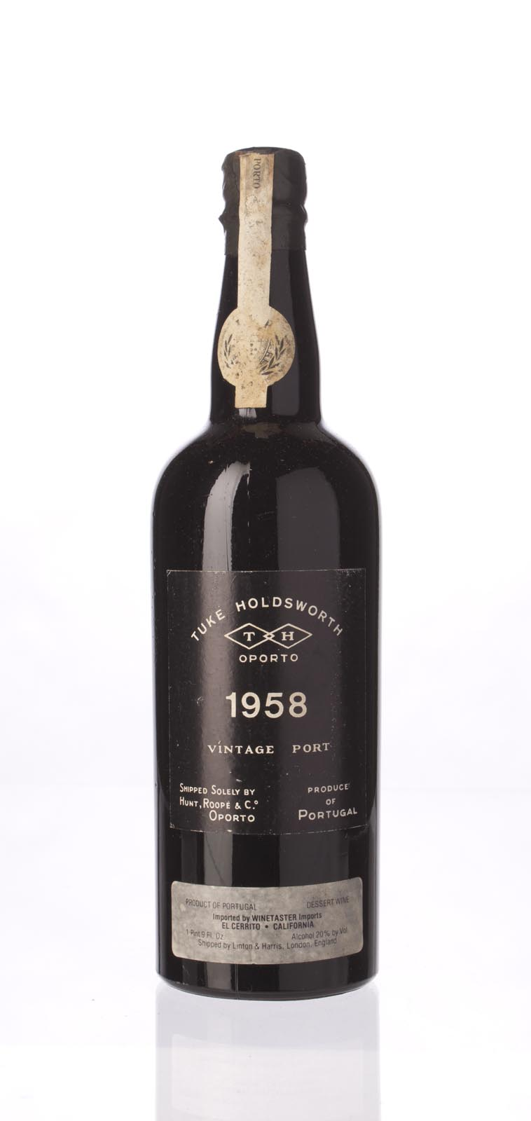 Tuke Holdsworth Port 1958, 750mL () from The BPW - Merchants of rare and fine wines.