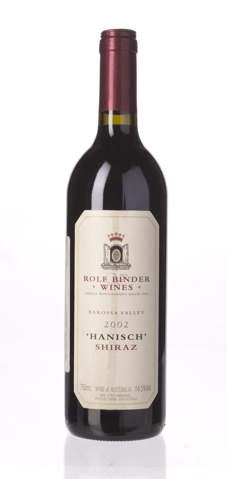 Rolf Binder (Veritas Winery) Shiraz Hanisch Vineyard 2002, 750mL (WA98) from The BPW - Merchants of rare and fine wines.